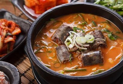 매운순대국밥